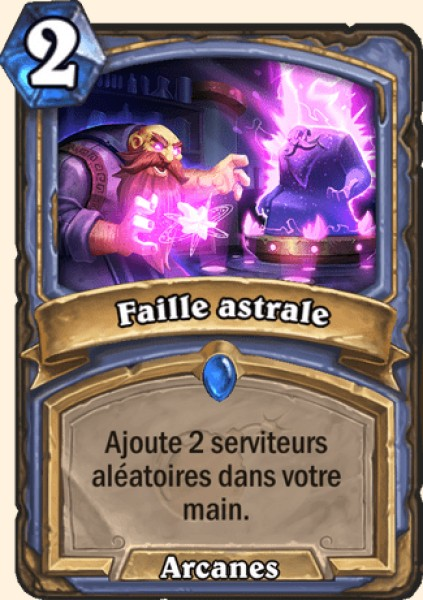 Faille astrale carte Hearthstone