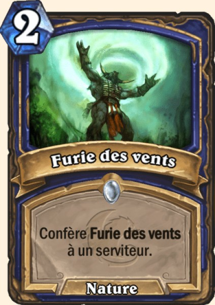 Furie des vents carte Hearthstone