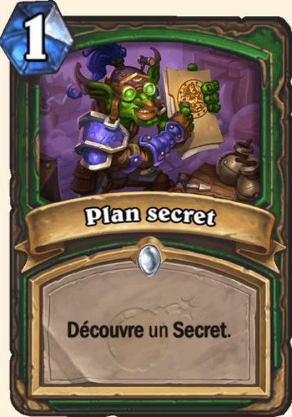 Plan secret carte Hearthstone