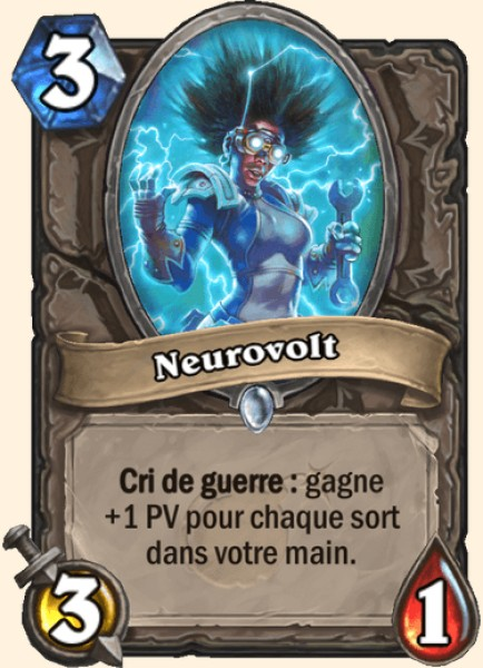 Neurovolt carte Hearthstone