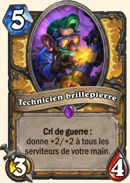 Technicien brillepierre carte Hearthstone