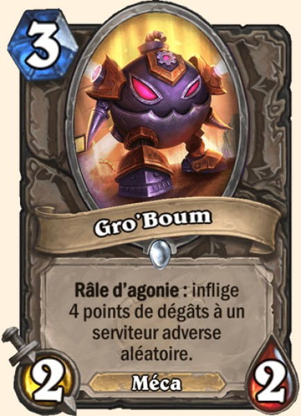 Gro'Boum carte Hearthstone
