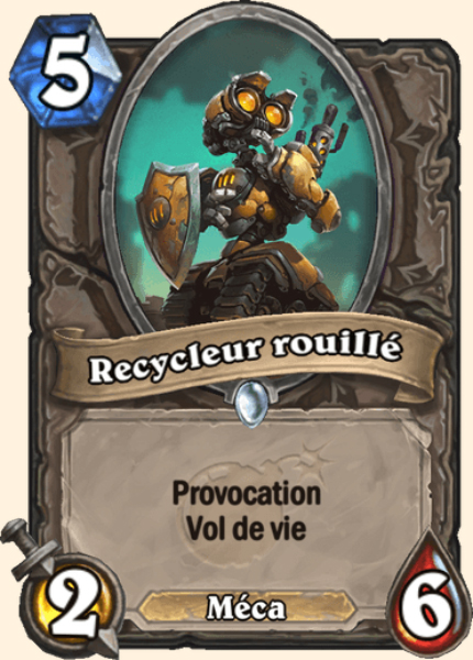 Recycleur rouillé carte Hearthstone