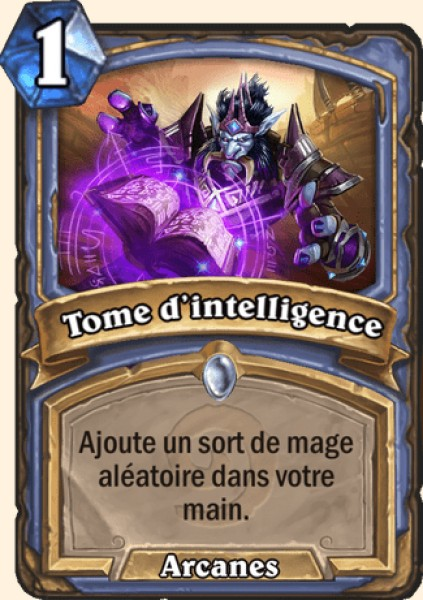 Tome d'intelligence carte Hearthstone