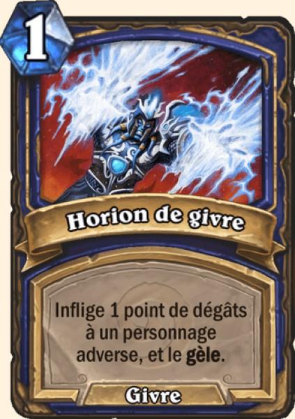 Horion de givre carte Hearthstone