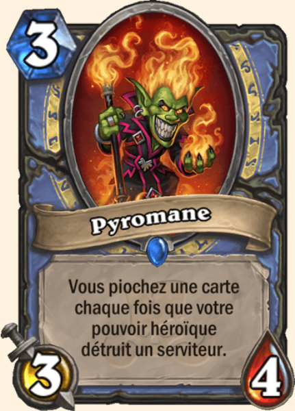 Pyromane carte Hearthstone