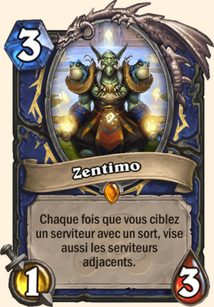 Zentimo carte Hearthstone