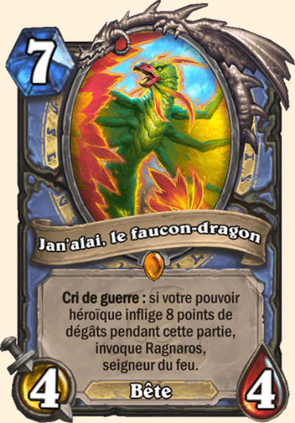 Jan'alai, le faucon-dragon carte Hearthstone