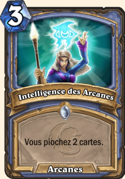 Intelligence des Arcanes carte Hearthstone