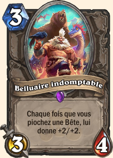 Belluaire indomptable carte Hearthstone