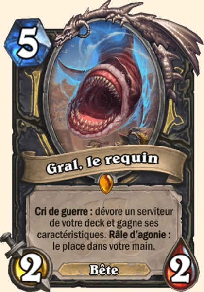 Gral, le requin carte Hearthstone