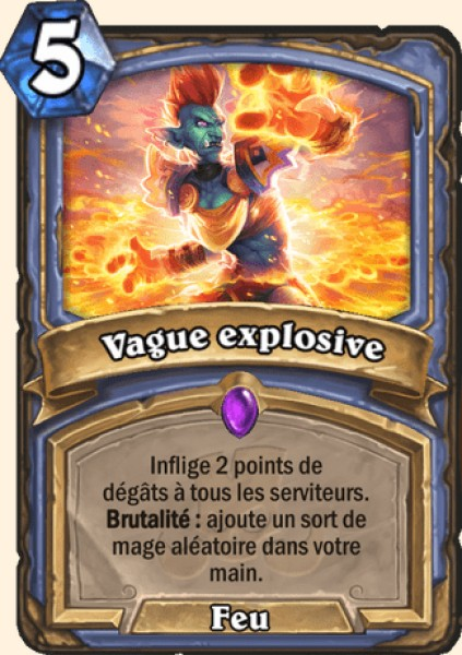 Vague explosive carte Hearthstone