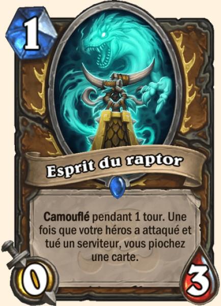 Esprit du raptor carte Hearthstone