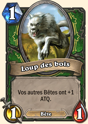 Loup des bois carte Hearthstone