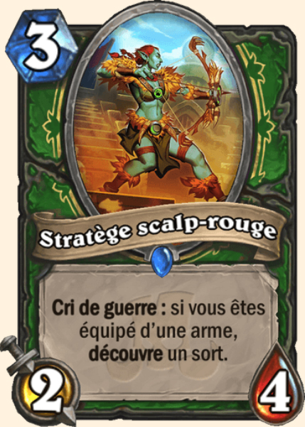 Stratège scalp-rouge carte Hearthstone