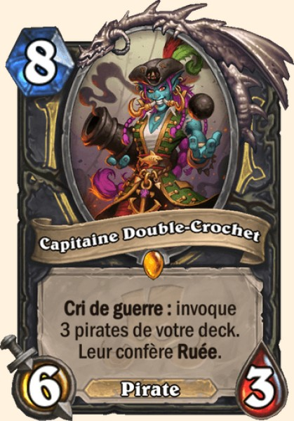 Capitaine Double-Crochet carte Hearthstone