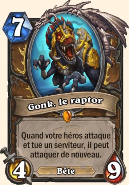Gonk, le raptor carte Hearthstone