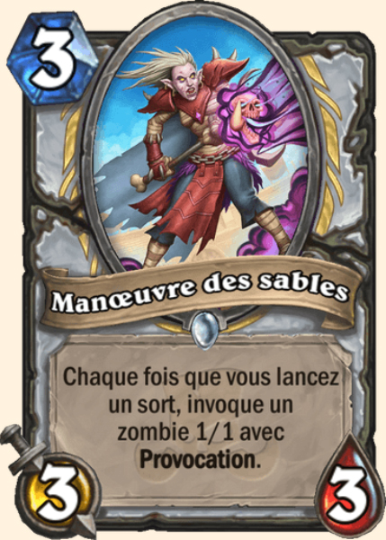 Manoeuvre des sables carte Hearthstone