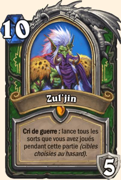 Zul'jin carte Hearthstone