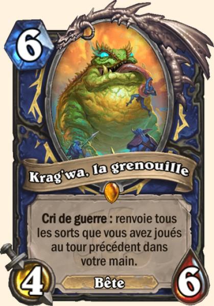 Krag'wa, la grenouille carte Hearthstone