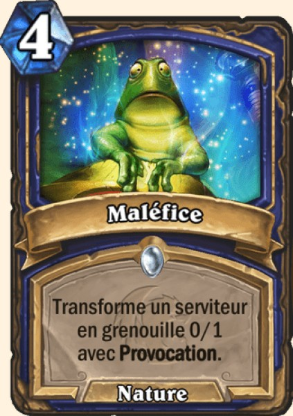 Maléfice carte Hearthstone