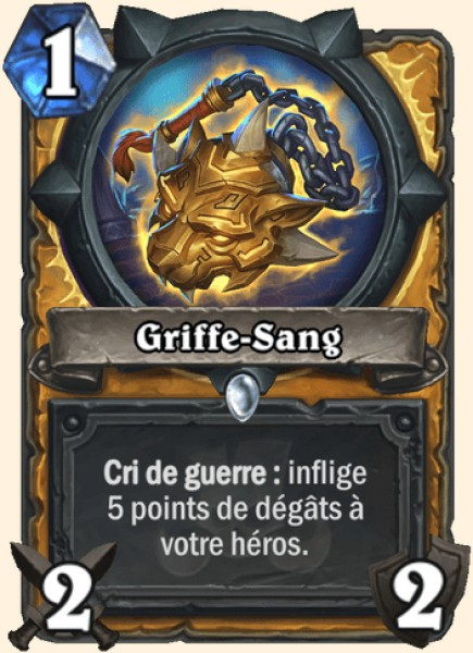 Griffe-Sang carte Hearthstone