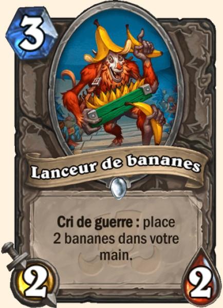 Lanceur de bananes carte Hearthstone