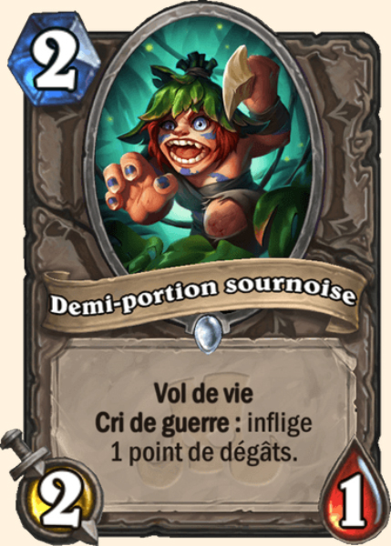 Demi-portion sournoise carte Hearthstone