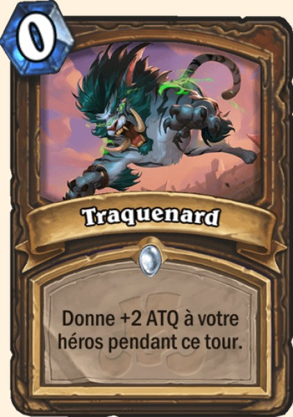Traquenard carte Hearthstone
