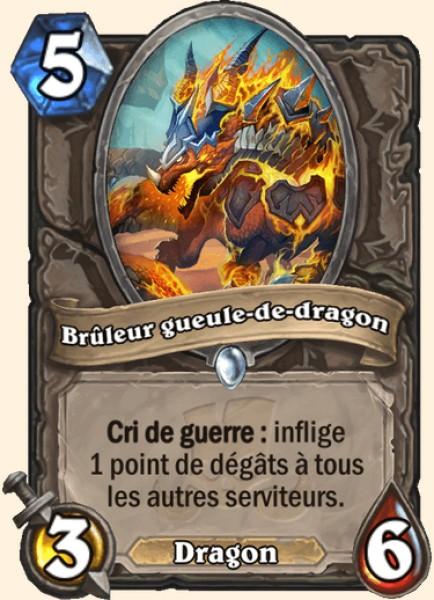 Brûleur gueule-de-dragon carte Hearthstone