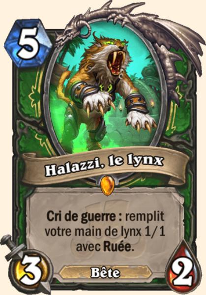 Halazzi, le lynx carte Hearthstone
