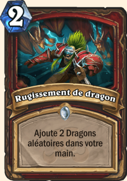 Rugissement de dragon carte Hearthstone