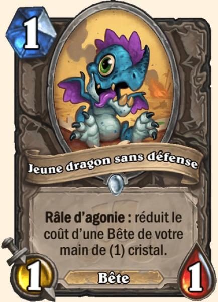 Jeune dragon sans défense carte Hearthstone