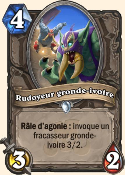 Rudoyeur gronde-ivoire carte Hearthstone