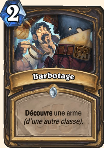 Barbotage carte Hearthstone