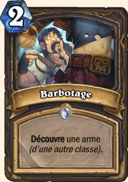 Barbotage carte Hearthstone