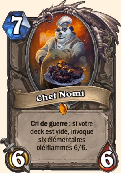 Chef Nomi carte Hearthstone