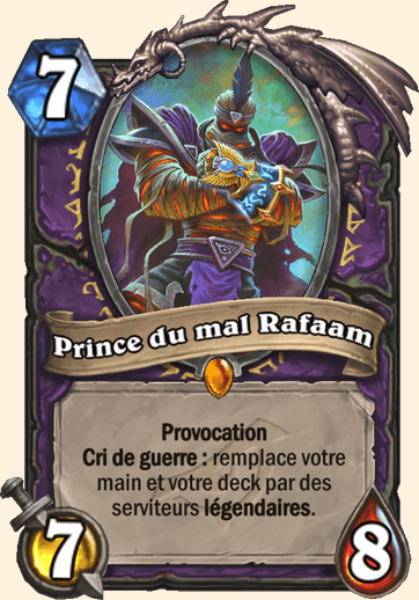 Prince du mal Rafaam carte Hearthstone