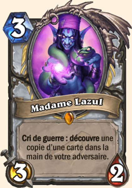 Madame Lazul carte Hearthstone