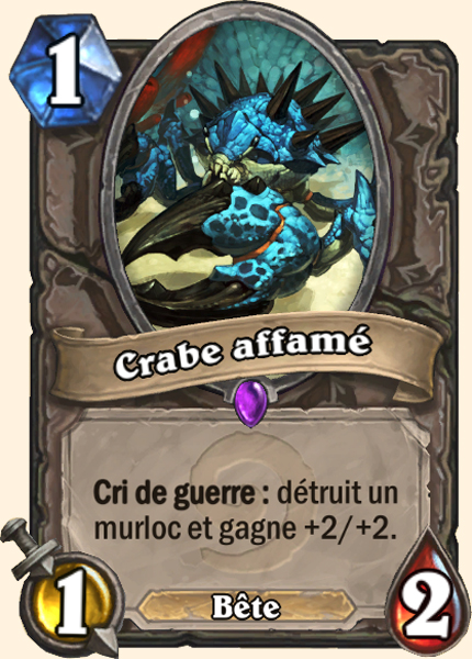 Crabe affamé carte Hearthstone