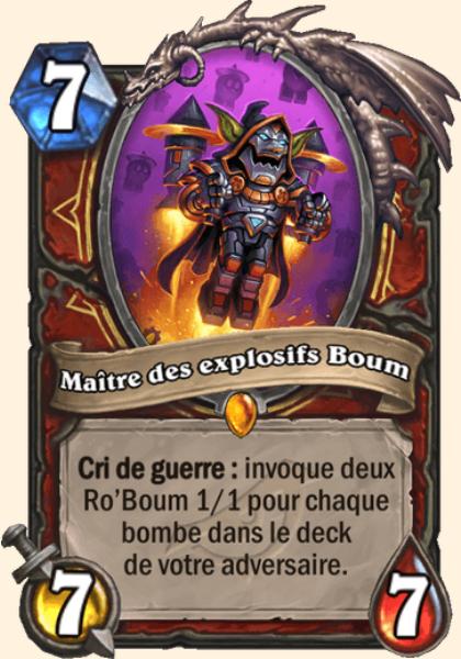 Maître des explosifs Boum carte Hearthstone