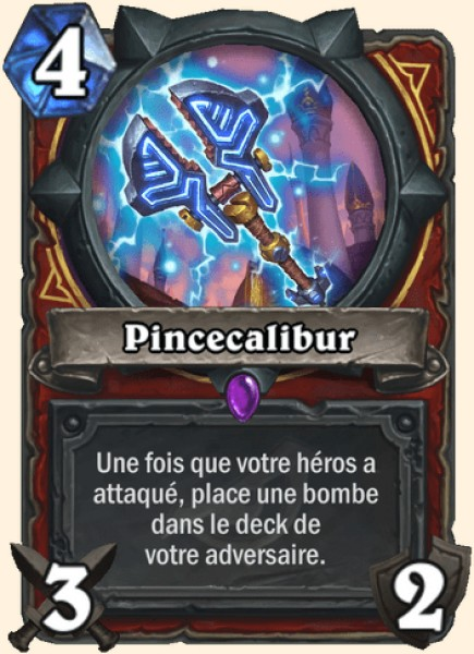 Pincecalibur carte Hearthstone