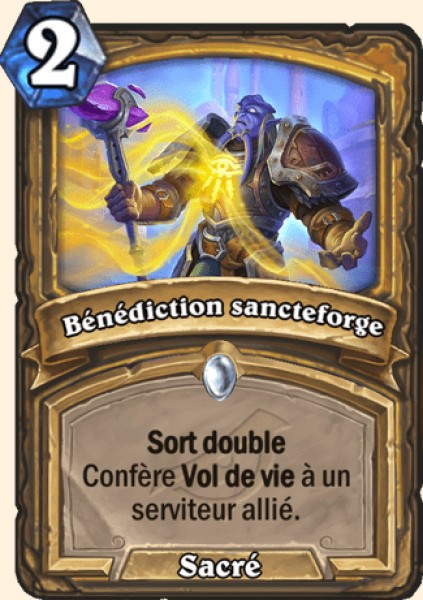 Bénédiction sancteforge carte Hearthstone