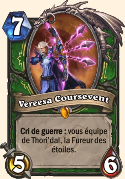 Vereesa Coursevent carte Hearthstone
