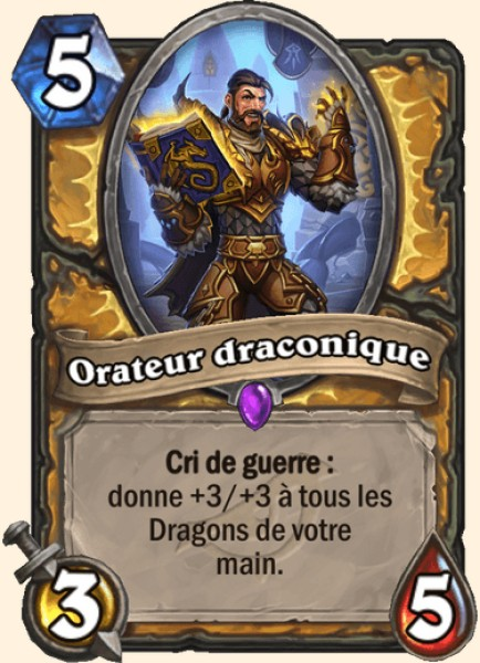 Orateur draconique carte Hearthstone