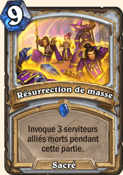 Résurrection de masse carte Hearthstone