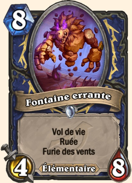 Fontaine errante carte Hearthstone