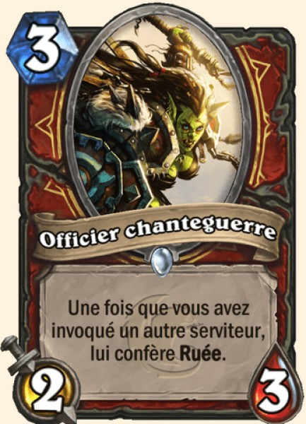 Officier chanteguerre carte Hearthstone