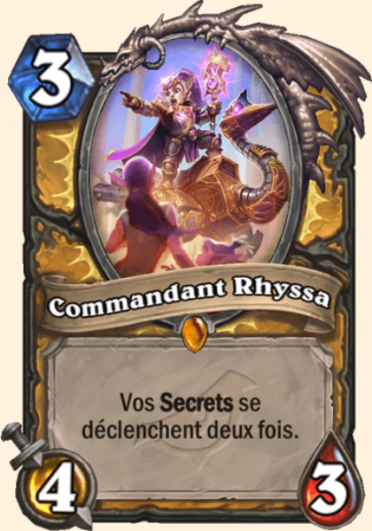 Commandant Rhyssa carte Hearthstone