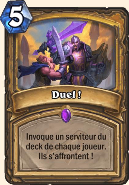 Duel ! carte Hearthstone